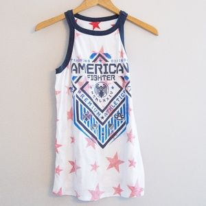 American Fighter Red White Blue Tank Racerback
